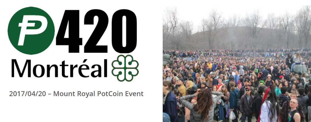 PotCoin to Attend Montreal Cannabis Rally on 4/20