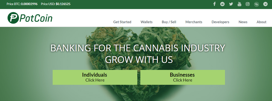 PotCoin Completes Website Redesign
