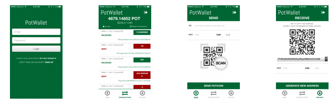 PotWallet Launches its PotCoin Mobile Wallet App